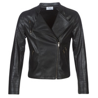 Clothing Women Leather jackets / Imitation leather Moony Mood LAVINE Black