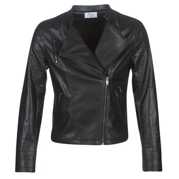 Clothing Women Leather jackets / Imitation leather Moony Mood LAVINE Black