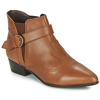 Shoes Women Mid boots Betty London LYDWINE Cognac