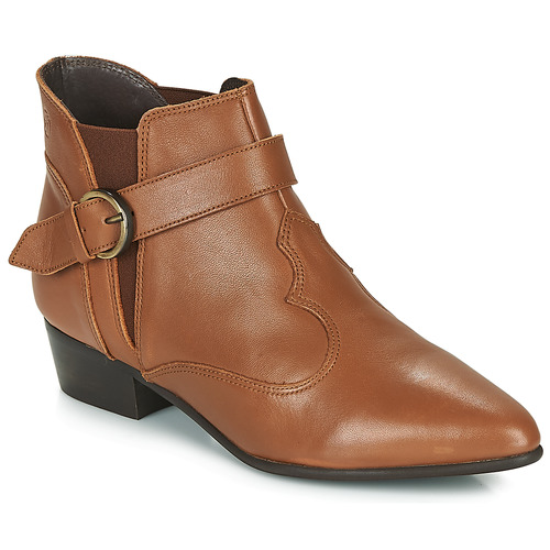 Shoes Women Mid boots Betty London LYDWINE Cognac