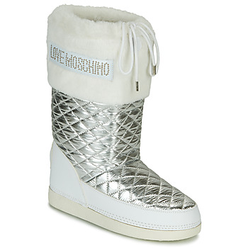Shoes Women Snow boots Love Moschino JA2417 White / Silver