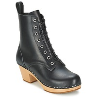 Shoes Women Ankle boots Swedish hasbeens LILIAN Black