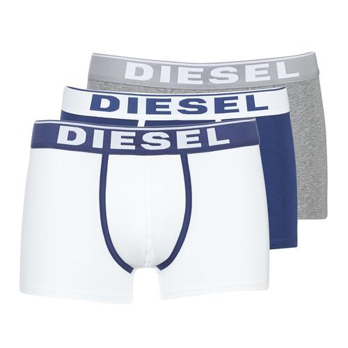 Underwear Men Boxer shorts Diesel DAMIEN White / Marine / Grey