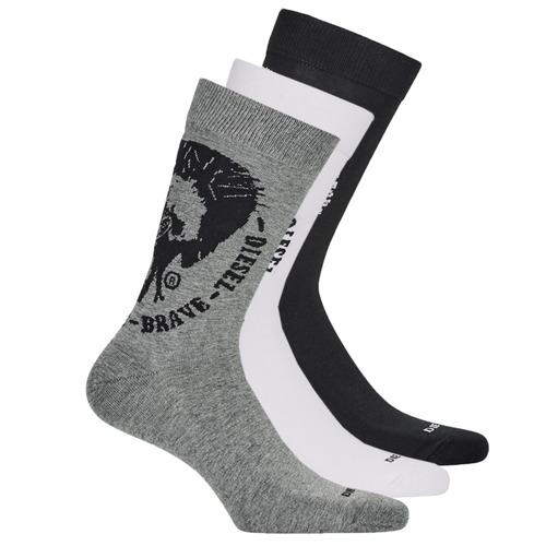 Shoe accessories Men Socks Diesel  Black / Grey / White