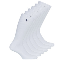 Clothes accessories Men Socks Polo Ralph Lauren ASX110 6PK CR PP-CREW-6 PACK White