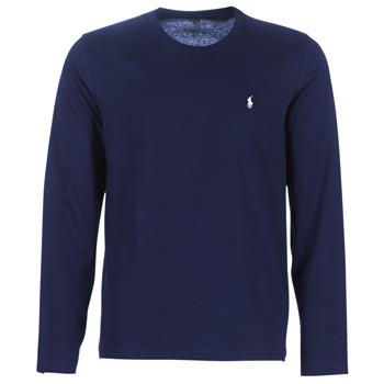 Clothing Men Long sleeved tee-shirts Ralph Lauren L/S CREW-CREW-SLEEP TOP Marine
