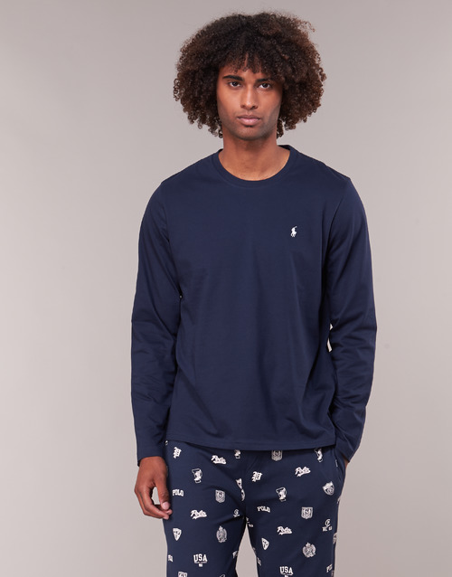 Clothing Men Long sleeved tee-shirts Polo Ralph Lauren L/S CREW-CREW-SLEEP TOP Marine