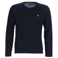 Clothing Men Long sleeved tee-shirts Polo Ralph Lauren L/S CREW-CREW-SLEEP TOP Black