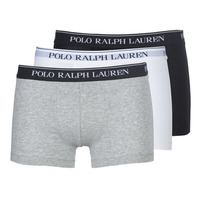 Underwear Men Boxer shorts Ralph Lauren CLASSIC-3 PACK-TRUNK Black / White / Grey