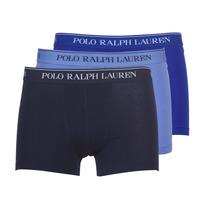 Underwear Men Boxer shorts Ralph Lauren CLASSIC-3 PACK-TRUNK Blue