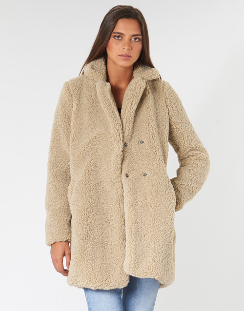 Clothing Women coats Noisy May NMGABI Beige