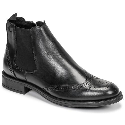 Shoes Men Mid boots Carlington LEVOTO Black