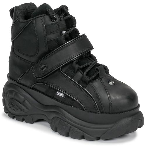 Shoes Women Hi top trainers Buffalo 1348 Black