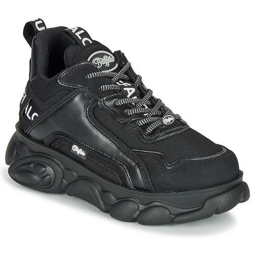 Shoes Women Low top trainers Buffalo CHAI Black / White