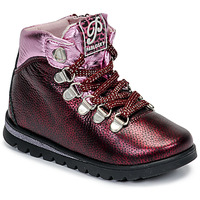 Shoes Girl Mid boots Pablosky 66663-J Bordeaux