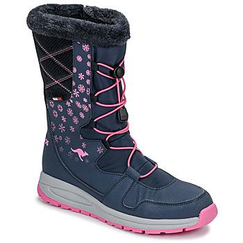 Shoes Women Wellington boots Kangaroos K-GLAZE RTX Marine / Pink