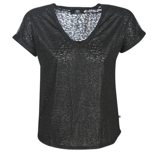 Clothing Women short-sleeved t-shirts Le Temps des Cerises OKINAWA Black