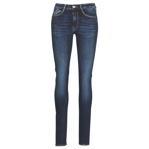 Clothing Women slim jeans Le Temps des Cerises PULP HIGH SLIM Blue