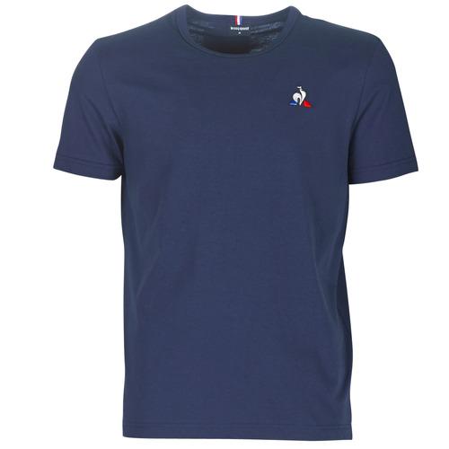 Clothing Men short-sleeved t-shirts Le Coq Sportif ESS TEE SS N°2 M Blue / Marine