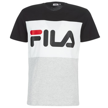 Clothing Men short-sleeved t-shirts Fila DAY TEE Grey / Black