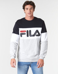 Clothing Men sweaters Fila STRAIGHT BLOCKED CREW Grey / Black