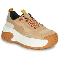 Shoes Women Low top trainers Coolway REX Camel / White