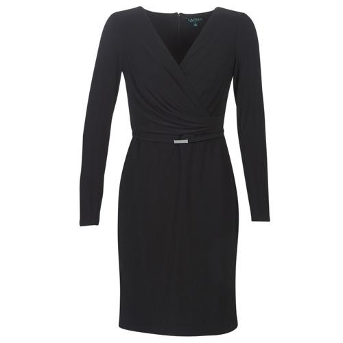Clothing Women Short Dresses Lauren Ralph Lauren ALEXIE Black