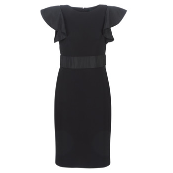 Clothing Women Short Dresses Lauren Ralph Lauren JERSEY SLEEVELESS COCKTAIL DRESS Black