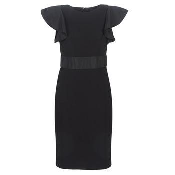 Clothing Women Short Dresses Lauren Ralph Lauren JERSEY SLEEVELESS COCKTAIL DRESS Black