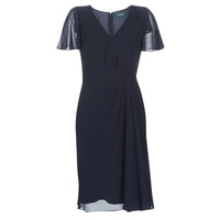 Clothing Women Long Dresses Lauren Ralph Lauren CUTLER CAP SLEEVE DAY DRESS Marine