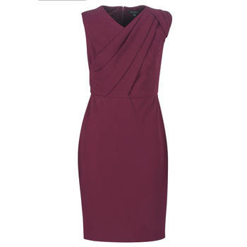 Clothing Women Long Dresses Lauren Ralph Lauren RUBY SLEEVELESS DAY DRESS Bordeaux