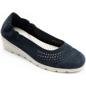 Shoes Women Flat shoes Padders Bud Womens Punched Detail Pumps blue