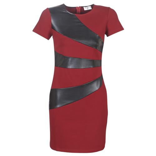 Clothing Women Short Dresses Moony Mood LIVEO Bordeaux / Black