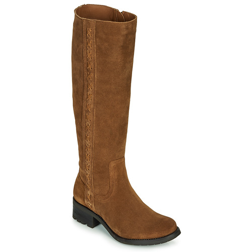 Shoes Women High boots Casual Attitude LOUNA Taupe