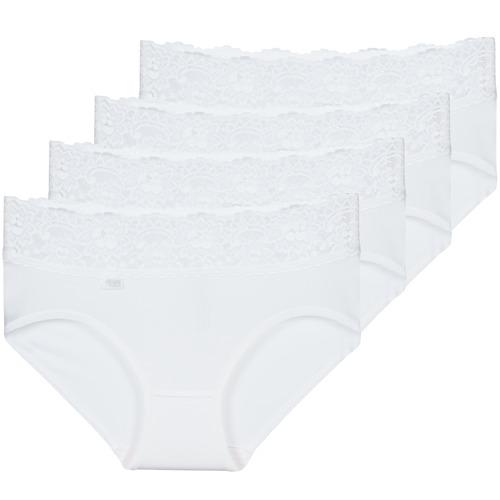 Underwear Women Knickers/panties Sloggi  ROMANCE X 4 White