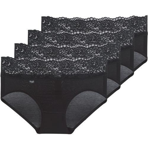 Underwear Women Knickers/panties Sloggi ROMANCE X 4 Black