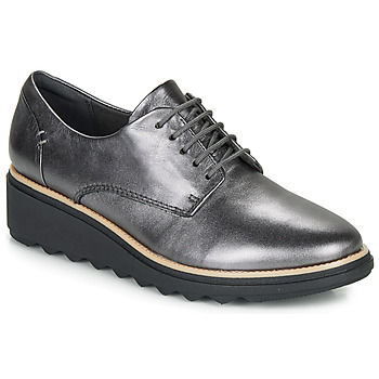 Shoes Women Derby Shoes Clarks SHARON NOEL Silver
