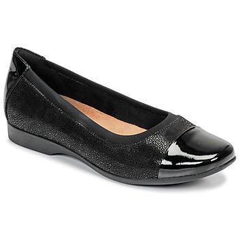 Shoes Women Flat shoes Clarks UN DARCEY CAP Black