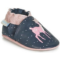 Shoes Girl Baby slippers Robeez LITTLE FAWN Marine / Pink