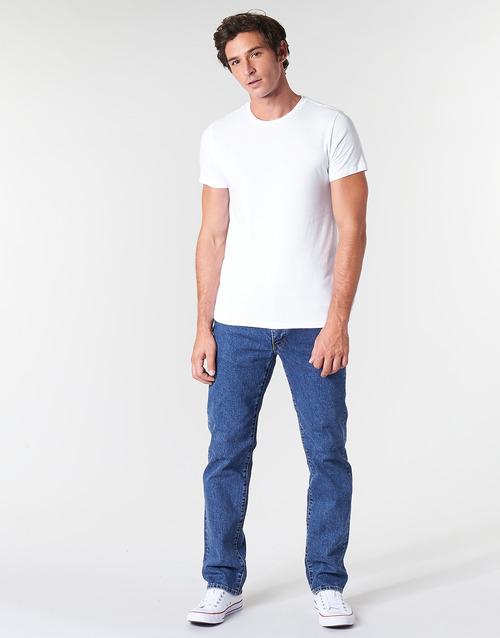 Clothing Men straight jeans Levi's 514 STRAIGHT Stonewash / Stretch