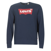 Clothing Men sweaters Levi's GRAPHIC CREW B Marine / Red