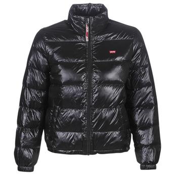 Clothing Women Duffel coats Levi's FRANCINE DOWN PCKBLE JKT Black