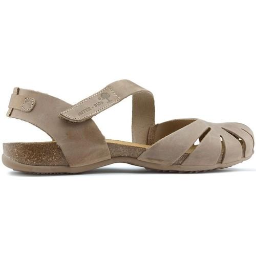 Shoes Women Sandals Interbios Sandals  UNIVERSE BEIGE