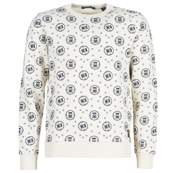 Clothing Men sweaters Scotch & Soda CREWNECK SWEAT WITH LOGO ALL-OVER PRINT White