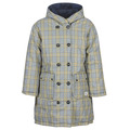Maison Scotch REVERSIBLE DOUBLE BREASTED JACKET IN CHECK AND SOLID