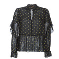 Maison Scotch SHEER PRINTED TOP WITH RUFFLES