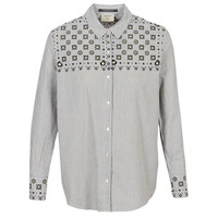 Clothing Women Shirts Maison Scotch BUTTON UP SHIRT WITH BANDANA PRINT Grey