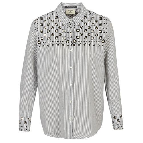 Clothing Women Shirts Maison Scotch BUTTON UP SHIRT WITH BANDANA PRINT Grey