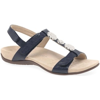 Shoes Women Sandals Vionic Farra Womens Patent Casual Sandals blue