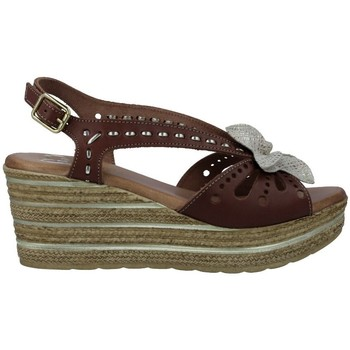 Shoes Women Sandals Calzados Vesga 3524 Sandalias con Cuña de Mujer brown